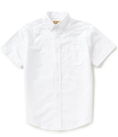 Class Club Gold Label Big Boys 8-20 Short-Sleeve Oxford Shirt