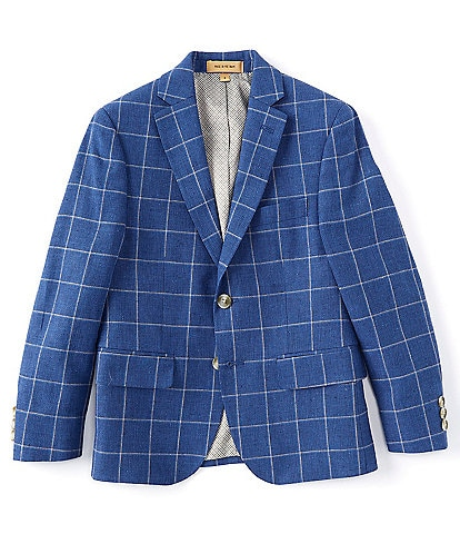 Class Club Gold Label Big Boys 8-20 Window Pane Jacket