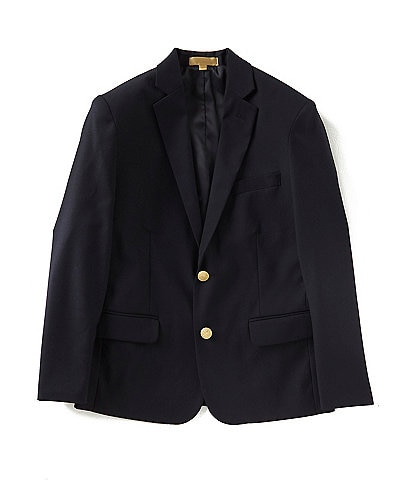 Class Club Gold Label Big Boys 8-20 Wool Brass-Button Blazer