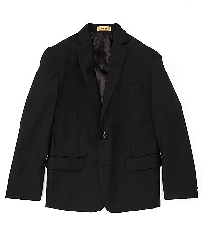 Class Club Gold Label Bog Boy 10-18 Husky Black Blazer