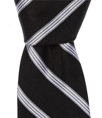Class Club Gold Label Boys 50#double; Textured Stripe Tie