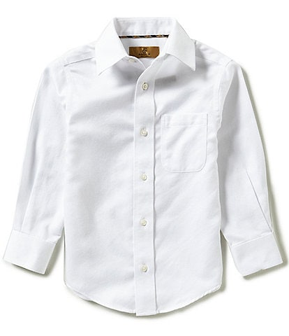 Class Club Gold Label Little Boys 2T-7 Long-Sleeve Herringbone Shirt