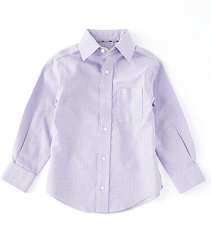 Class Club Gold Label Little Boys 2T-7 Long-Sleeve Non-Iron Texture Dress Shirt