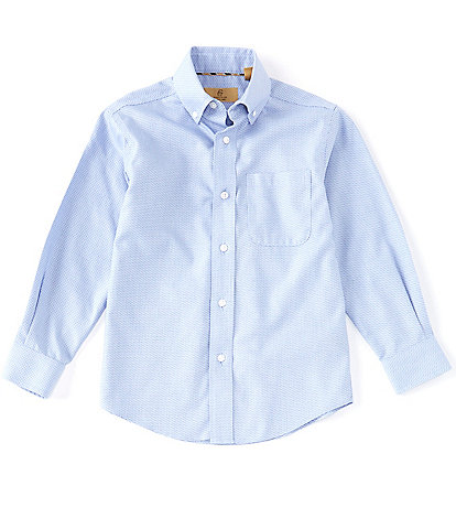 Class Club Gold Label Little Boys 2T-7 Long Sleeve Texture Non-Iron Button Front Shirt