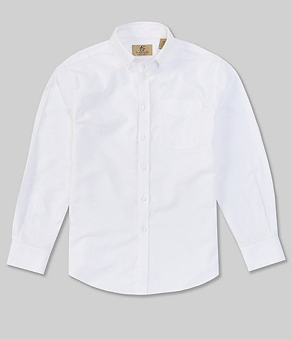 Class Club Gold Label Big Boys 10-18 Long-Sleeve Husky Fit Dress Shirt