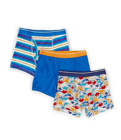 Class Club Little Boys 2T-5T Dino/Stripe 3-Pack Boxer Briefs