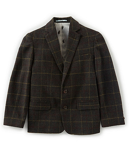 Class Club Little Boys 2T-7 Brown Plaid Blazer