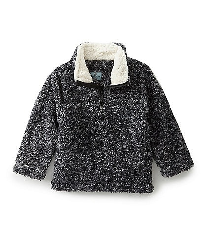 Class Club Little Boys 2T-7 Faux Fur 1/4 Zip Frosted Cozy Sherpa Pullover