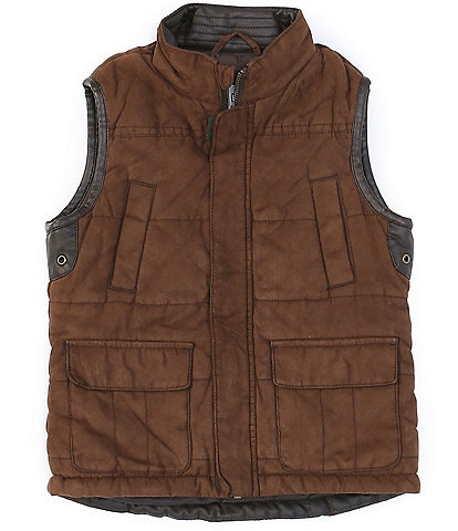 Class Club Little Boys 2T-7 Faux Suede and Leather Vest