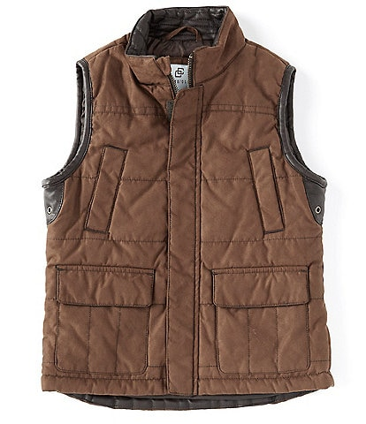 Class Club Little Boys 2T-7 Faux-Suede Stand Collar Zipper Vest