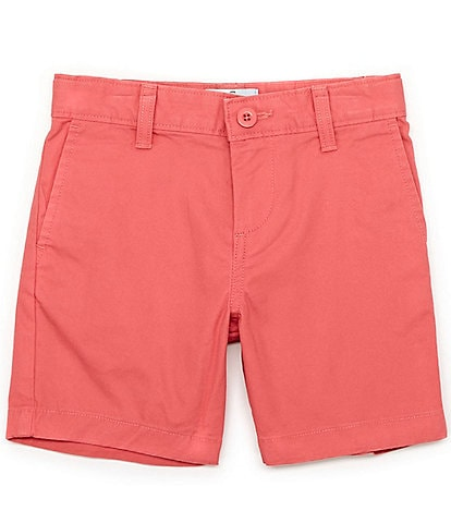 Class Club Little Boys 2T-7 Flat-Front Stretch Twill Shorts
