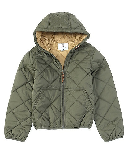 Class Club Little Boys 2T-7 Hooded Quilted Jacket