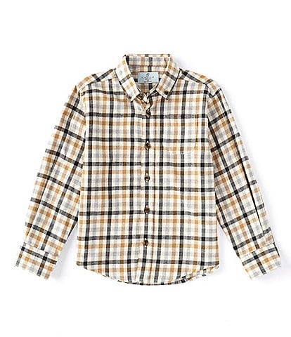 Class Club Little Boys 2T-7 Long-Sleeve Check Woven Button-Front Shirt