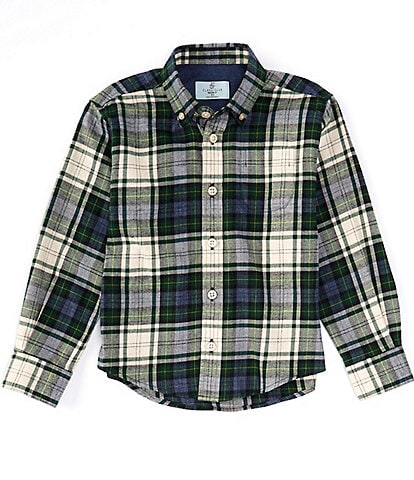 Class Club Little Boys 2T-7 Long-Sleeve Holiday Plaid Button-Front Shirt