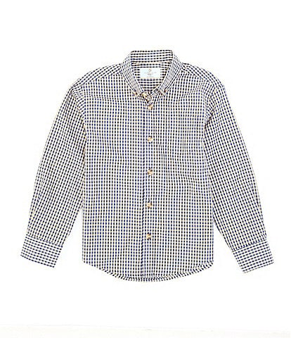 Class Club Little Boys 2T-7 Long Sleeve Small Check Button Front Shirt