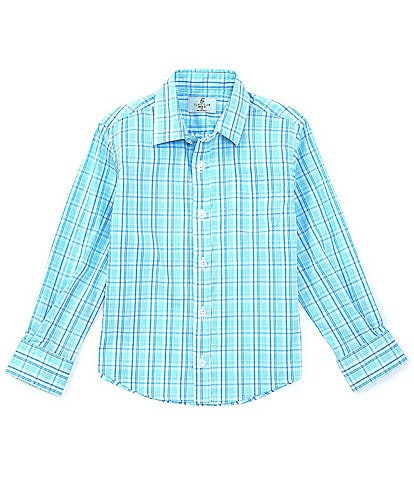 Class Club Little Boys 2T-7 Long-Sleeve Synthetic Plaid Button-Front Shirt
