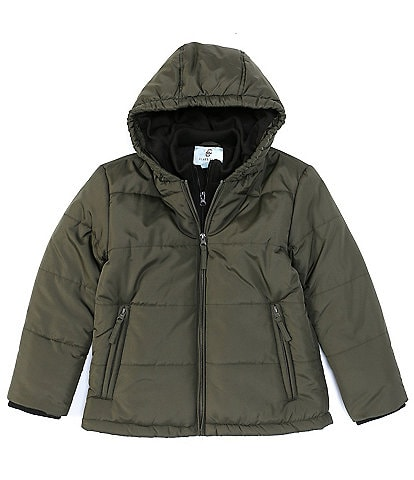 Class Club Little Boys 2T-7 Puffer Jacket With Bib