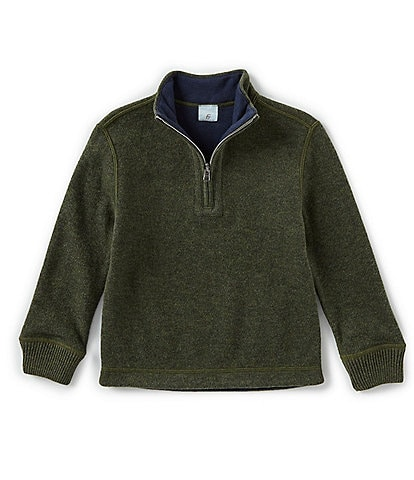 Class Club Little Boys 2T-7 Quarter-Zip Reversible Rib Knit Pullover