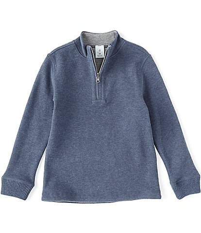 Class Club Little Boys 2T-7 Reversible Ribbed Quarter-Zip Pullover