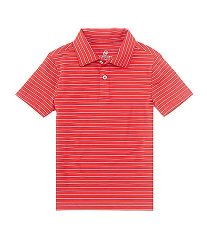 Class Club Little Boys 2T-7 Short-Sleeve Shadow Stripe Synthetic Polo Shirt