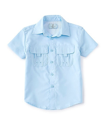 Class Club Little Boys 2T-7 Short-Sleeve UPF 50 Fishing Shirt
