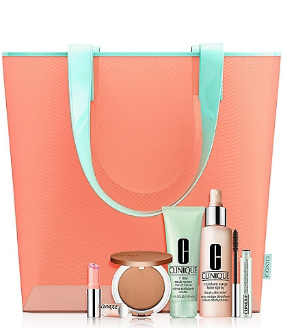 Clinique Sunny Day Staples Spring 6-piece gift $35 with any Clinique purchase