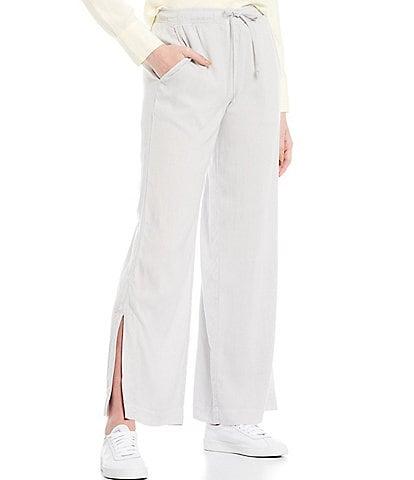 Cloth & Stone Side Slit Wide Leg Coordinating Drawstring Pants