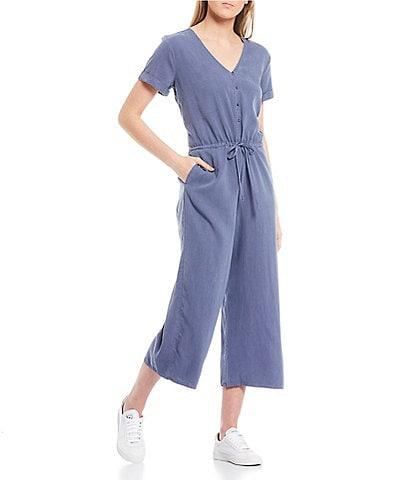 Cloth & Stone V-Neck Wide Leg Jumpsuit