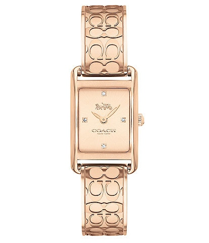 COACH Allie Rose Gold Bangle Watch