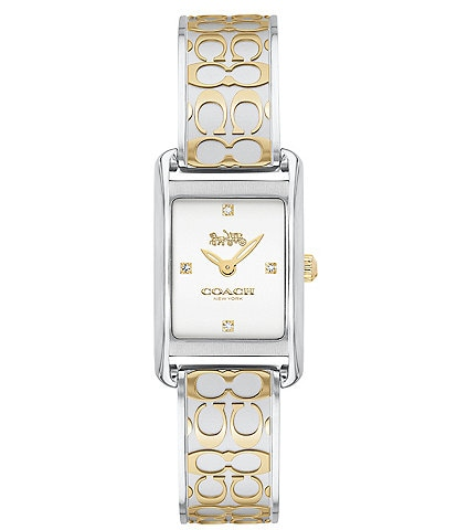 COACH Allie White Bangle Watch