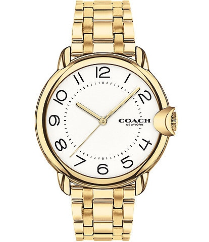COACH Arden Goldtone Bracelet Watch