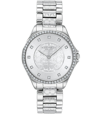 COACH Astor Swarovski Crystal Set Bezel Bracelet Watch