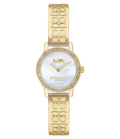 COACH Audrey Gold Signature Bangle Bracelet Watch