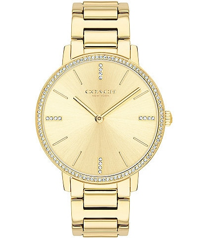 COACH Audrey Goldtone Stainless Steel Bracelet Watch