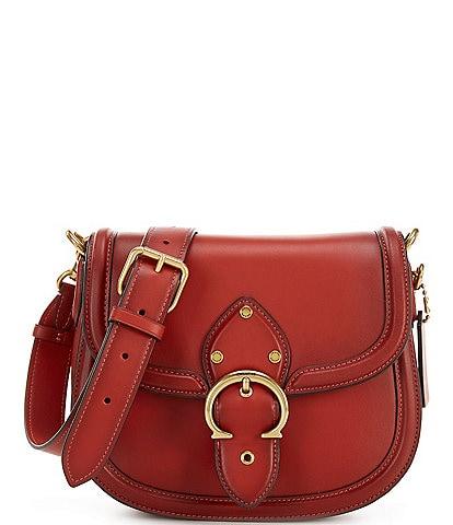 COACH Beat Leather Saddle Crossbody Bag