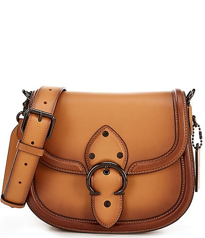 COACH Beat Leather Saddle Crossbody Bag