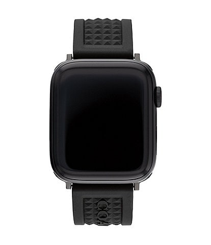 COACH Black Textured Single Prong 42/44mm Band for Apple Watch®