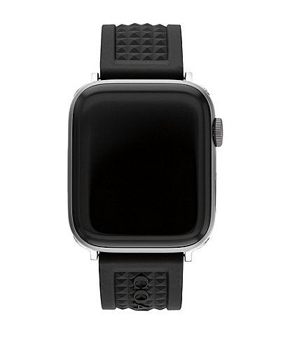 COACH Black Textured 42/44mm Rubber Band for Apple Watch®