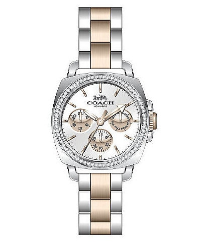 COACH Boyfriend Two Tone Chronograph Watch