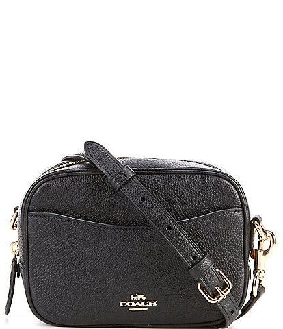 COACH Camera Pebble Leather Crossbody Bag