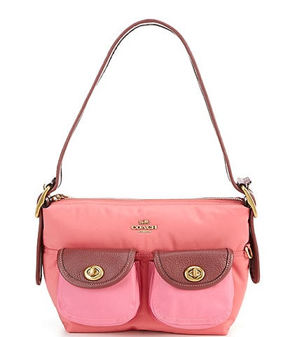 COACH Cargo Nylon Colorblock Shoulder Bag