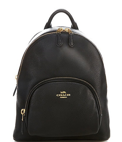COACH Carrie Pebble Leather Backpack Bag