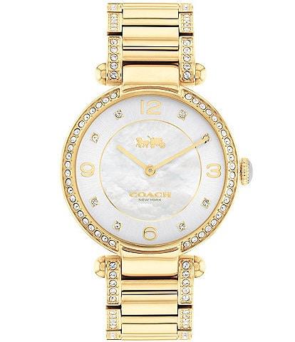 COACH Cary Goldtone Bracelet Watch