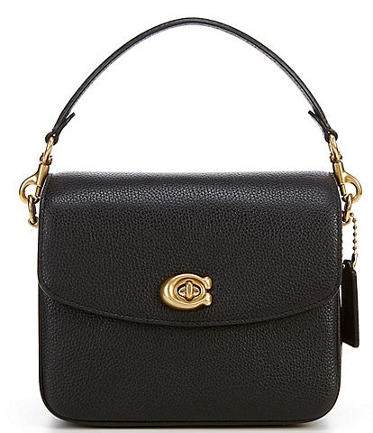 COACH Cassie Polished Pebble Leather Turnlock Crossbody Bag