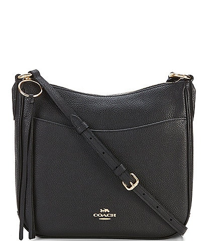 COACH Chaise Pebble Leather Zip Crossbody Bag