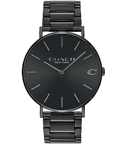 COACH Charles Black IP Bracelet Watch