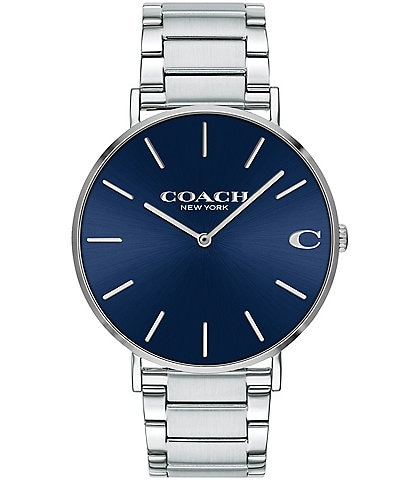 COACH Charles Stainless Steel Bracelet Watch