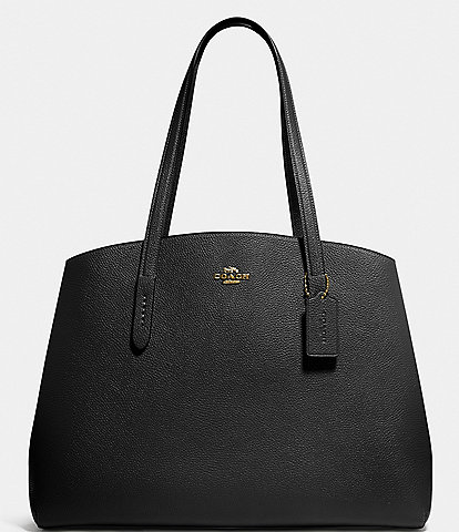 COACH Charlie Carryall Pebble Leather Tote Bag