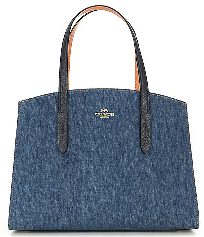 COACH Charlie Denim Colorblock Carryall
