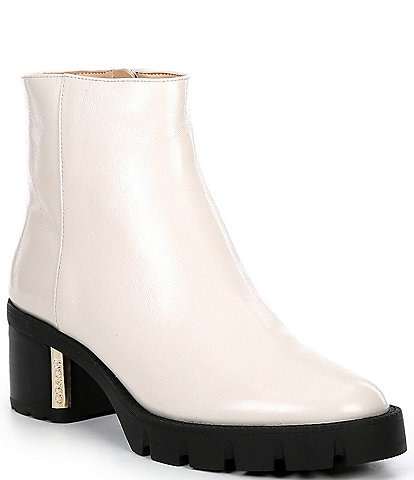 COACH Chrissy Leather Lug Sole Booties